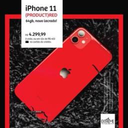 IPhone 11 64gb RED a pronta entrega novo lacrado