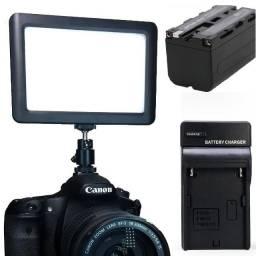 Iluminador 192 Leds + Bateria E Carregador P/ Video Dslr Led