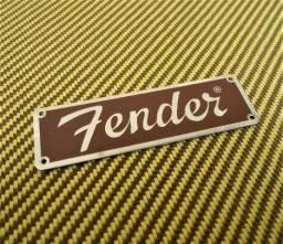 Emblema Fender para Amplificador de Guitarra Fender