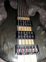Contra baixo ativo 6 cordas frettless Eagle comprar usado  Santa Rita do Passa 4