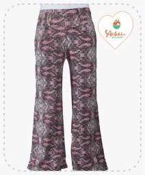Calça Pantalona (Arabesco Rosa)