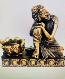 Título do anúncio: Estátua Buda Sonhador com castiçal de resina 11CM