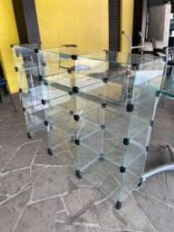 Expositores de vidro, confira as fotos e descrição.
