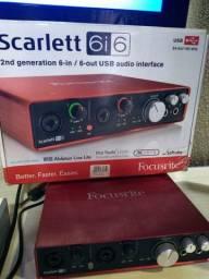 Interface Focusrite Scarlett 6i6 + Conversor DA