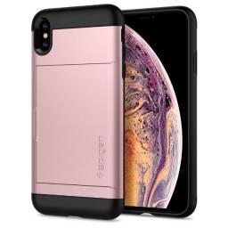Capa p/ iPhone Xs Max Spigen Slim Armor CS Rose Gold