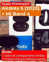 Promoção Miband 4 + Airdots S (Versão 2020)