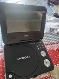 DVD portátil com defeito