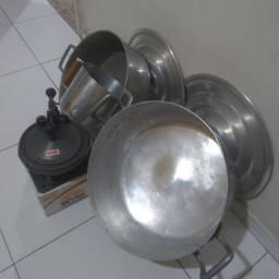Panela alumínio batido kit
