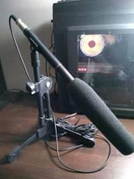 Microfone Condensador HT-81 Com Pedestal