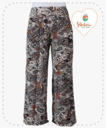 Calça Pantalona (Arabesco Marrom)