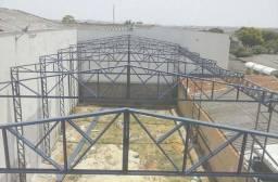 Telhado Telhadeiro Coberturas estrutura metalica galpão casa - mão de obra faço