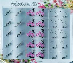 Kit 240 Peliculas 3D para Unhas Decoradas Frases