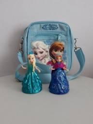 Título do anúncio: Bolsa transversal infantil Frozen com bonequinhas