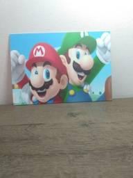 Título do anúncio: Quadro/placa do Mario Bros para decoração ambientes .