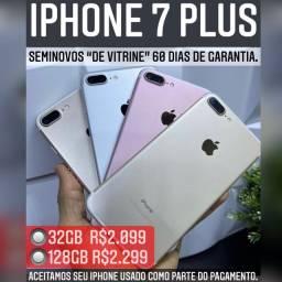 iPhone 7 Plus 32gb de vitrine, aceitamos seu iPhone usado como parte do pagamento.