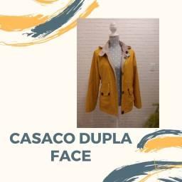 Casaco dupla face com capuz