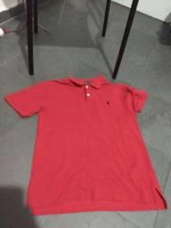 Camisa Polo USPA vermelha Eua