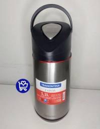 Garrafa Térmica de Pressão em Inox com Trava de Segurança 1,2L - Tramontina