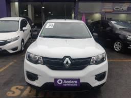 Título do anúncio: Renault Kwid 1.0 12V sce Flex Zen Manual Branco 18/19