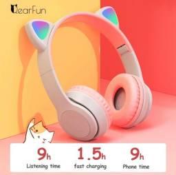 Título do anúncio: Fone de Ouvido gatinha rosa