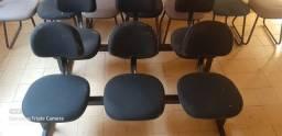 Longarinas - com 3 cadeiras estofadas