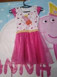 Vendo vestido Peppa pig tamanho g