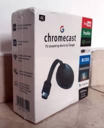 Chromecast 4K TV Streaming 2.4GHz Wi-fi. Novo, na Caixa.