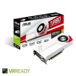 Placa de vídeo Asus GTX 970 4 gb Turbo overclock. Topo de Linha.