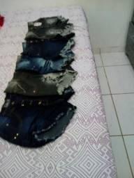 Super Promoção Kit 5 Shorts Jeans Juvenil. 5 peças, 1 único preço!