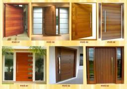 Portas e janelas em madeira maciça