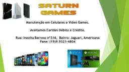 Manutenção Video Games e Celulares