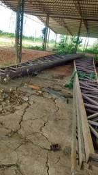 Estruturas mettálicas Tesouras de ferro de 20 metros