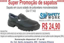 Sapatos e botinas de segurança em promoção!!!