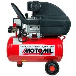 Compressor 120lbs 24L 2hp 220v - Motomil (Novo/Loja) 1 Ano de Garantia