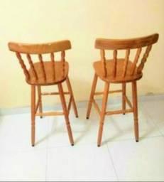 Cadeiras altas tipo bistrô semi novas