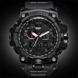 db8be924daf Relógio Masculino Militar Esporte Smael 1545 Prova D  Agua + Brinde