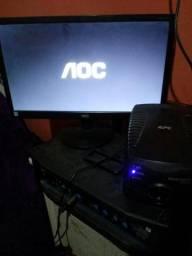 Monitor lcd 18,5 polegadas + estabilizador