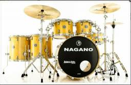 "Bateria Nagano Concert Full Lacquer Birch Natural Gold 22"",10"",12"",14"",16"""