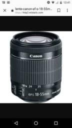 Lente Canon 18-55mm semi nova