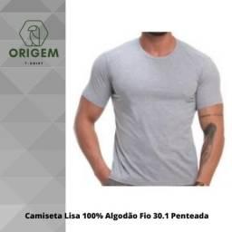 Camiseta Masculina Básica Lisa Atacado Algodão 30.1