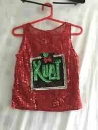 CARNAVAL-LUXO-Camiseta Paetes Coca-Cola/Kuat