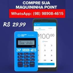 Maquina de Cartão Point Mini Bluetooth Promoção 1° de Setembro