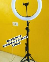 Ring light 16/26/36c com tripé de 1,80