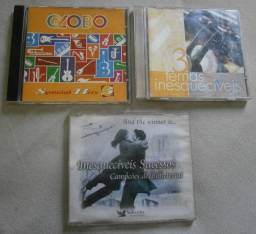 Lote CD Original - Temas Inesquecíveis + Globo Hits + Sucessos Inesquecíveis