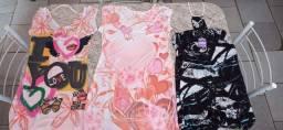 3 vestidos femininos NOVOS tamanho G