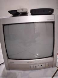 Tv tubo 14 pl com conversor digital