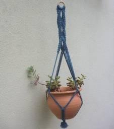 Suporte para vasos - hanger - floreira em macramê