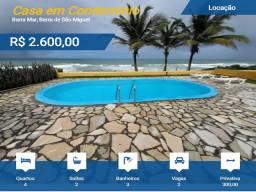 Aluga-se Casa de Praia à Beira Mar, Condomínio Fechado na Barra de São Miguel-AL. TOP!