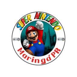 Super Nintendo com todos os jogos