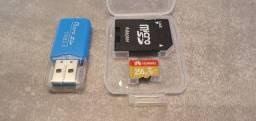 Cartão de memória da marca Huawei com 256gb.